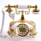 設計師美術精品館高檔老式仿古歐式電話機創意時尚田園復古電話家用座式固定電話機