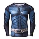漫威秋冬裝長袖緊身T恤 超級英雄蝙蝠俠肌肉男 運動健身跑步上衣 星河光年
