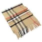 【南紡購物中心】BURBERRY Vintage 大方格紋經典喀什米爾圍巾(卡其)