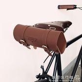 復古自行車包 上管包 車把包 自行車皮質鞍座包 復古公路車皮包   『歐韓流行館』