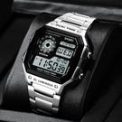 卡家西歐電子手錶男小方塊運動青少年中大學生潮方形手錶男機械錶 智慧e家 新品