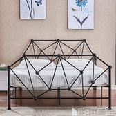 雙人床架 歐式現代簡易臥室公寓鋼管鐵藝雙人床1.5鐵架床1.8單人床架1.2米igo 寶貝計畫