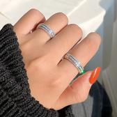 925純銀鑲鉆歐美戒指時尚簡約食指環百搭女【倪醬小舖】
