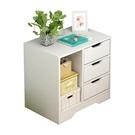 床頭櫃置物架簡約現代小型臥室經濟型收納櫃仿實木儲物簡易小櫃子【618店長推薦】