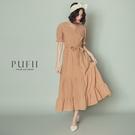 限量現貨◆PUFII-洋裝 魚尾裙擺胸交叉綁帶洋裝- 0512 現+預 夏【CP18502】