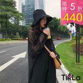連身裙 -Tirlo-暗黑網紗背心裙兩件組-一色(現+追加預計5-7工作天出貨)