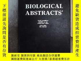 二手書博民逛書店BIOLOGICAL罕見ABSTRACTS 2003 22 生物