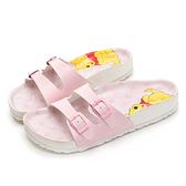 DISNEY 甜蜜氣息維尼休閒涼拖鞋-粉-DW616299