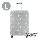PolarStar 飛機印花行李箱套『L』(26-29吋) 1717034A-L 行李箱.登機箱.保護套.防護套.防塵套.防髒汙