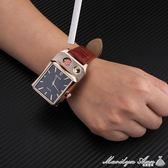 手錶打火機 充電防風創意個性USB電子點煙器男女腕錶打火機 批發 瑪麗蓮安