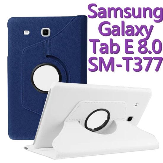 【旋轉、斜立】三星 Samsung Galaxy Tab E 8.0 T377/SM-T3777 平板專用 荔枝紋皮套/書本式保護套/支架展示