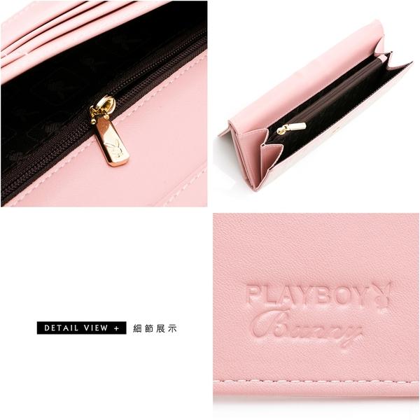 PLAYBOY - 翻蓋長夾 Bunny Poker 撲克甜心系列 - 粉色