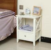聖誕禮物床頭櫃簡約免安裝床頭櫃40cm白色經濟型唯美窄床頭櫃臥室儲物收納櫃歐式 愛麗絲LX