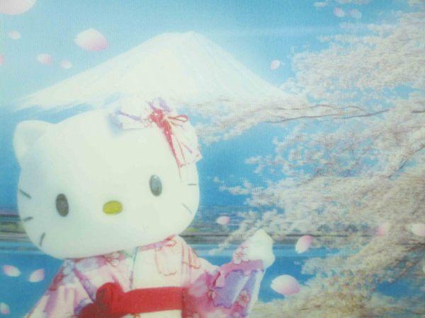 【震撼精品百貨】Hello Kitty 凱蒂貓~明信片-富士山