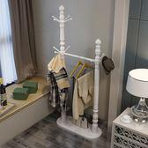 衣帽架落地歐式掛衣架實木簡約現代客廳臥室多功能時尚創意    古梵希DF