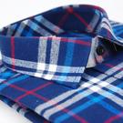 【金‧安德森】白藍紅格紋厚暖窄版長袖襯衫