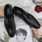 現貨 黑皮鞋品牌推薦 紳士歐巴 洞洞 最舒服牛津皮鞋 上班正式皮鞋 EPRIS艾佩絲-質感黑