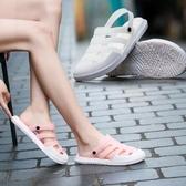 果凍鞋洞洞鞋女防滑軟底上班外穿護士鞋夏季孕婦拖鞋沙灘塑膠涼鞋果凍鞋時尚新品