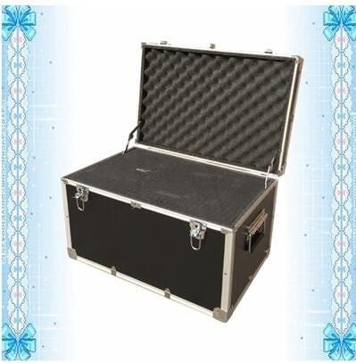 大號鋁合金工具箱防震箱儀器箱運輸箱工具收納箱手提箱鋁箱箱子(黑色023箱放滿海綿)