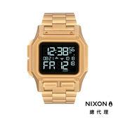 NIXON 手錶 原廠總代理A1268-502 REGULUS SS 金色 潮流時尚鋼錶帶 男女 運動 生日 情人節禮物