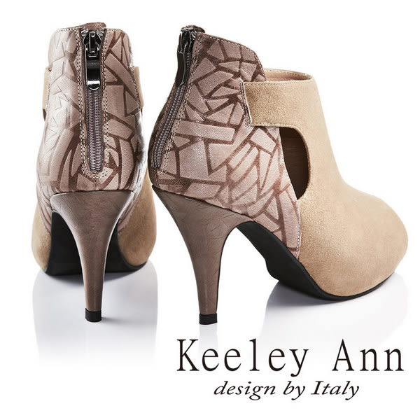 網路平台獨家6折★零碼出清★Keeley Ann質感氣勢羊麂皮高跟露趾羅馬涼鞋(咖啡)-Ann系列