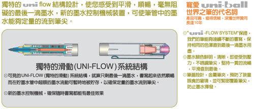 UNI UB-150直液式耐水性鋼珠筆