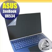 【Ezstick】ASUS UX534 UX534FT 制式規格 靜電式筆電LCD液晶螢幕貼 (可選鏡面或霧面)