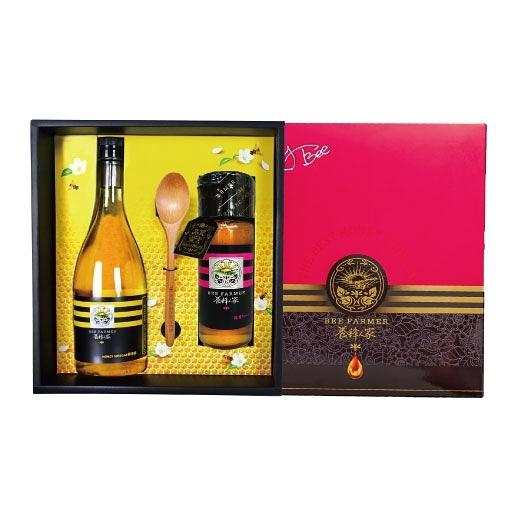 【復刻經典】極品臻藏醋蜜禮盒-特產蜂蜜425g(1瓶)+蜂蜜醋600ml(1瓶)【養蜂人家】