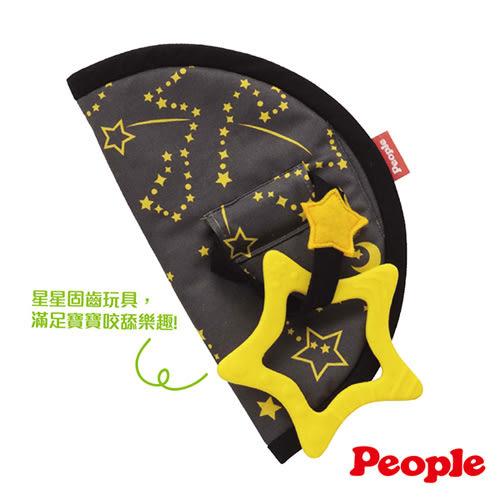 【奇買親子購物網】日本People 口水防污安撫套(太陽/水滴/星星)