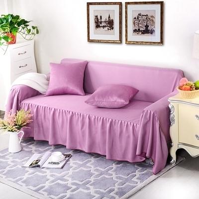 歲末清倉~素色雙面兩用四季全罩沙發套 萬能全包布藝沙發罩 二人沙發(200*260cm適用)