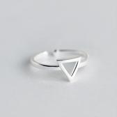 戒指 925純銀-鏤空三角型生日情人節禮物女開口戒73dt143【時尚巴黎】