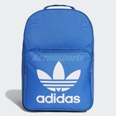 adidas 後背包 Classic Trefoil Backpack 藍 白 男女款 經典款 三葉草 【ACS】 DJ2172