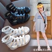 女童涼鞋2020夏季新款時尚軟底公主鞋兒童防滑羅馬鞋小女孩鞋子 漾美眉韓衣