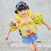 兒童救生衣-充氣游泳背心手臂圈救生衣浮力馬甲可調節 提拉米蘇