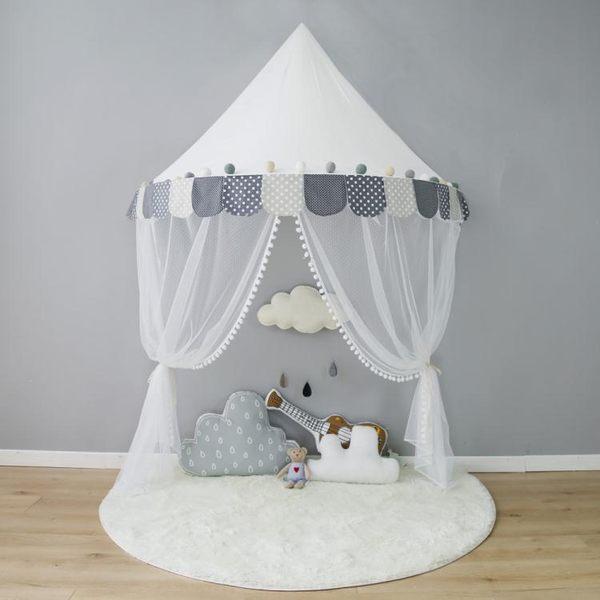 遊戲帳篷兒童帳篷室內公主游戲屋壁掛蚊帳床幔床頭掛帳讀書角純棉玩具igo 貝兒鞋櫃