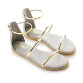 amai《12星座 – Libra天秤座》後拉式三環金屬涼鞋 灰