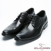 CUMAR 俐落有型 簡約風格真皮紳士鞋-黑色