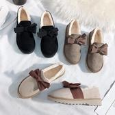 豆豆鞋 毛毛鞋女秋冬外穿2020年新款厚底豆豆鞋一腳蹬雪地靴加絨家居棉鞋-米蘭街頭