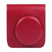 CAIUL【 mini 90 紅色 皮套 】mini90 專用 拍立得 收納包 附背帶 菲林因斯特