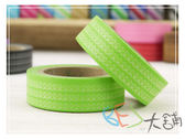 紙膠帶-線圈條紋和紙膠帶-淡綠色