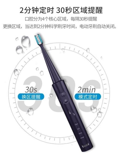 電動牙刷 德國鉑瑞BR-Z1電動牙刷成人充電式聲波超自動軟毛男女情侶款套裝 艾維朵