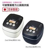 TIGER虎牌6人份可變式雙重壓力IH炊飯電子鍋 JPB-G10R藍黑色KAX