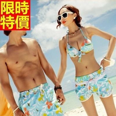 情侶款海灘褲(單件)-衝浪防水簡單花朵俐落大氣男女沙灘褲66z20[時尚巴黎]