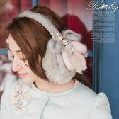 耳罩 珍珠皇冠熊熊毛毛耳罩-Ruby s 露比午茶