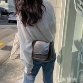 包包女2020夏天新款百搭單肩側背包小包日本流浪包菱格錬條郵差包 一米陽光