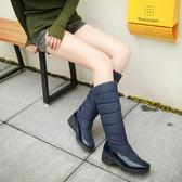 ✿俏魔女美人館✿ 零碼靴子羽絨冬靴防水防滑中筒靴女子棉鞋