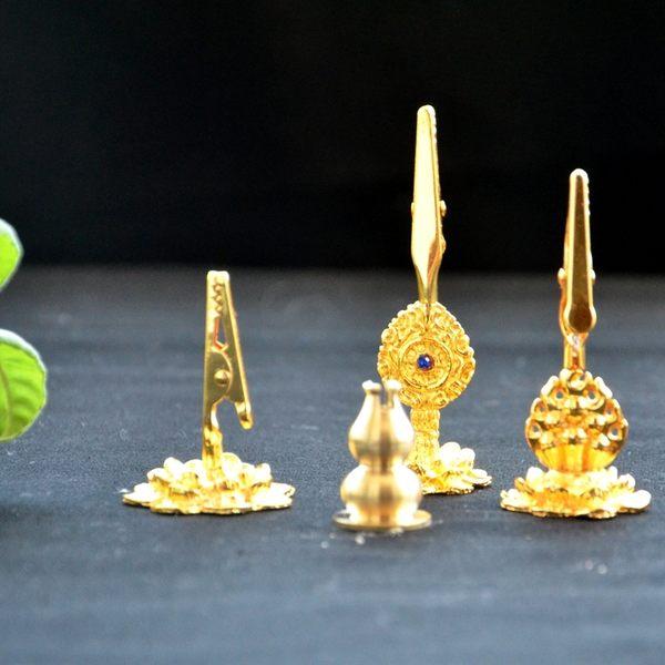 [協貿國際]純銅葫蘆香插 合金蓮花法輪香夾 香爐香座 線香架盤香托 藏香專用1入
