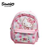 【正版授權】凱蒂貓 方格系列 雙層 兒童背包 背包 後背包 書包 Hello Kitty 三麗鷗 Sanrio - 441626