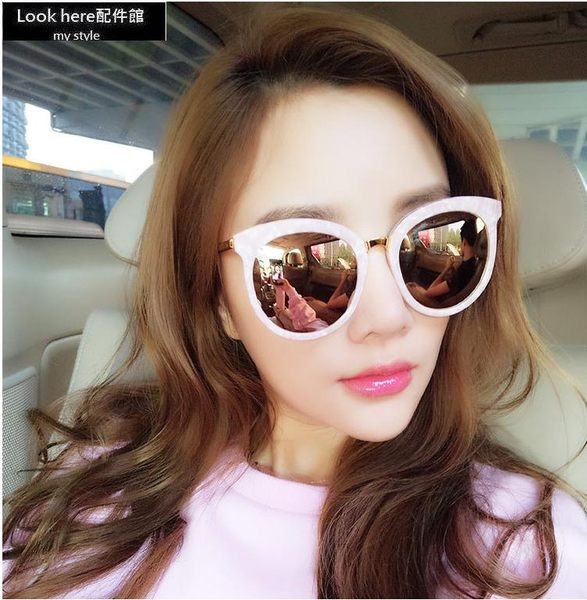 Gentle monster同款墨鏡 李小璐同款太陽眼鏡 韓國潮牌反光太陽鏡 造型眼鏡 抗紫外