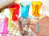 波浪杯口防潮刷牙杯 漱口杯 牙刷架二合一  顏色隨機出貨【BC000】《約翰家庭百貨